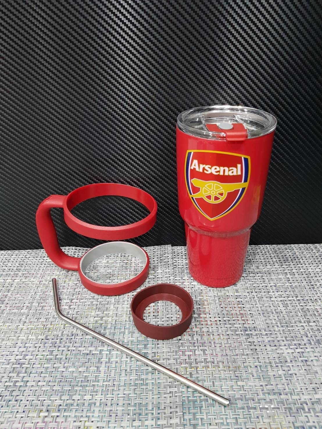 ชุดแก้วเยติ 30 ออนซ์ พื้นสีแดง โลโก้ อาร์เซนอล