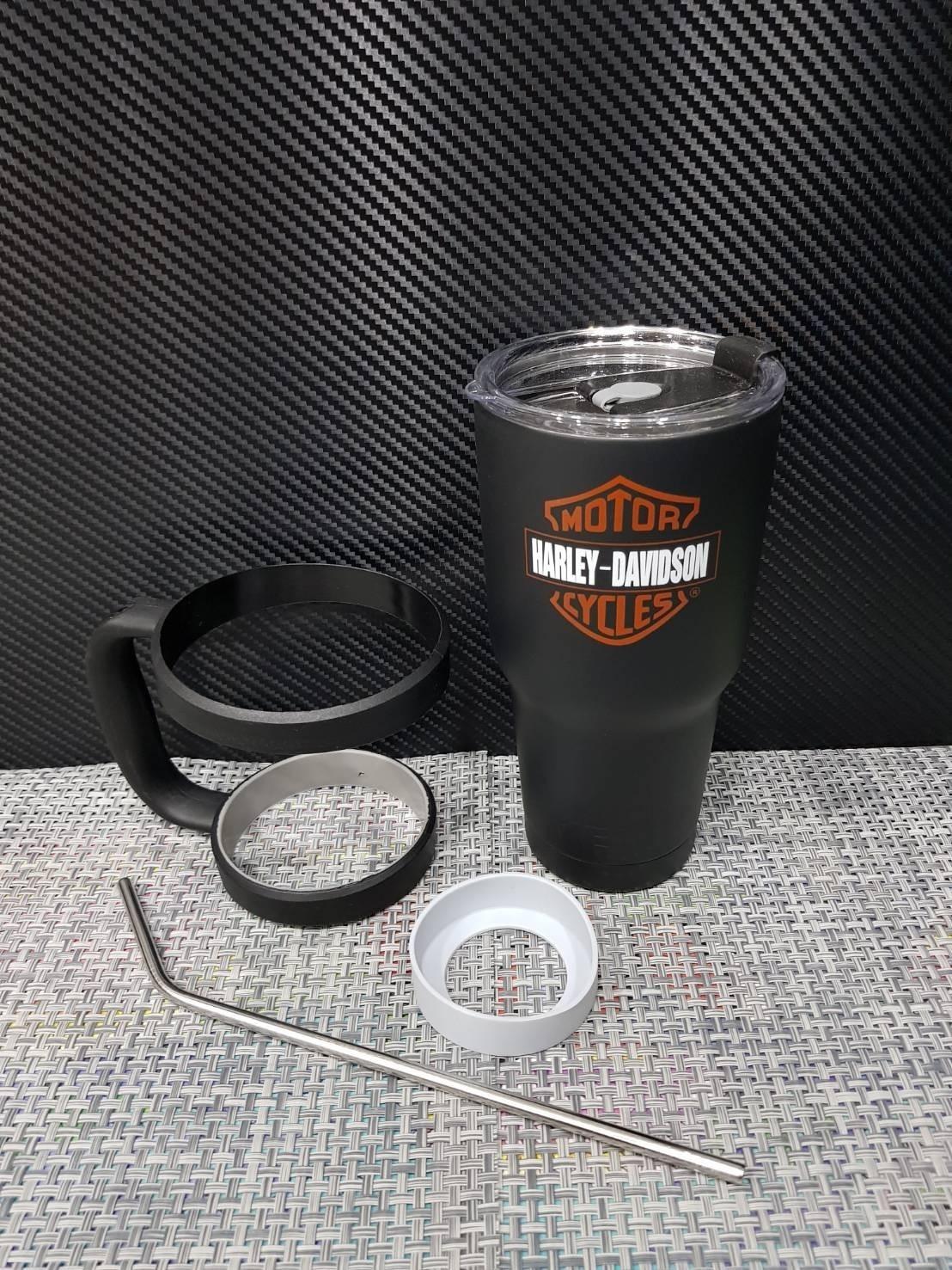 ชุดแก้วเยติ 30 ออนซ์ พื้นสีดำ โลโก้ ฮาร์เล่ย์ สีน้ำตาล