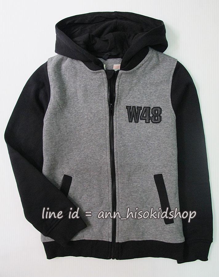 1925 H&M Hooded Jacket - Grey/Black ขนาด 8-10 ปี (ส่งฟรี ลทบ.)