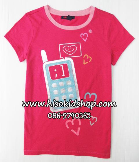 1035 Gap Kids Graphic Tee - Rose ขนาด S(6-7),M(8) ปี