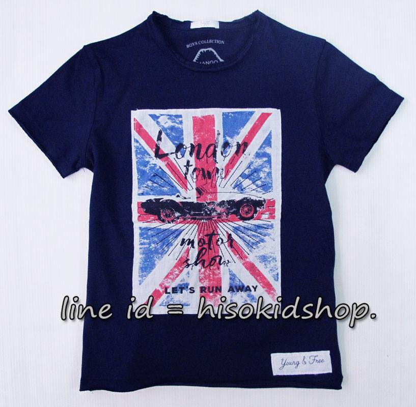 1783 Mango T-Shirt - Navy Blue ขนาด 4-6 ปี