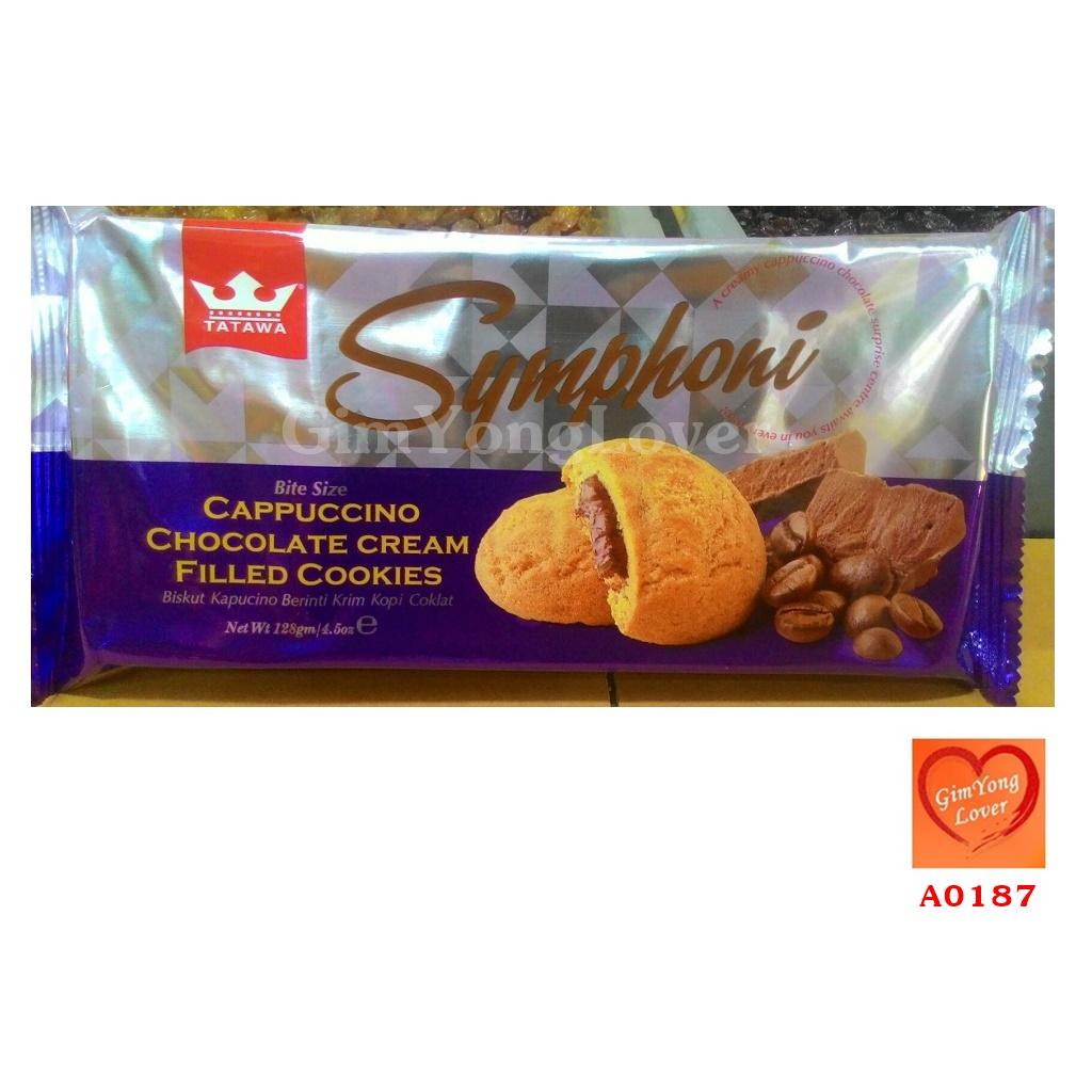 TATAWA Symphoni คุกกี้ไส้ช็อคโกแลตคาปูชิโน (TATAWA Symphoni Cappuccino Chocolate Cream Filled Cookies)