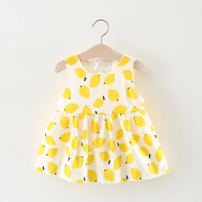 ชุดเดรสลายเลมอนสีเหลือง [size 1y-18m-2y]