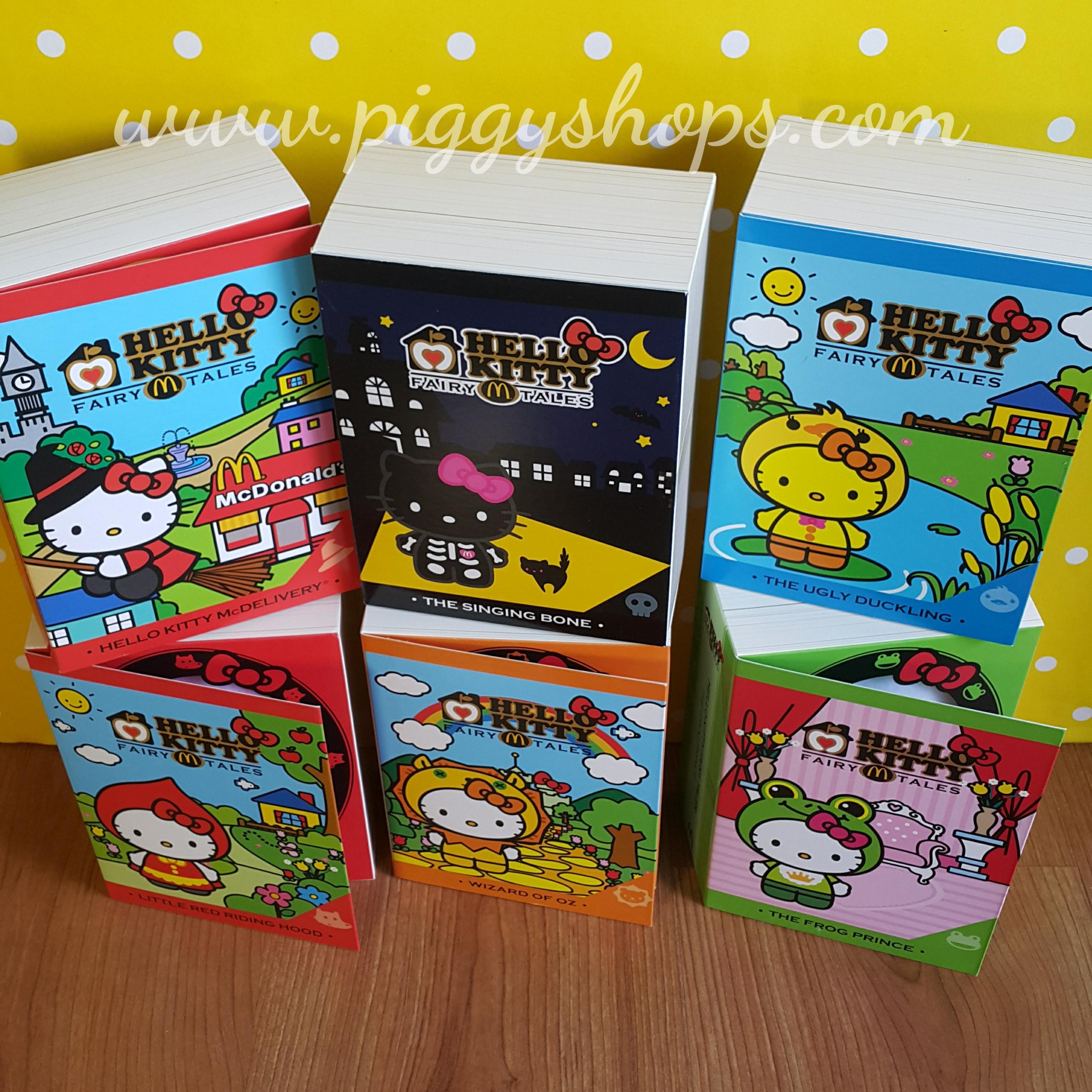 HELLO KITTY Fairy Tales full box set คอลเลกชั่นสะสมคิตตี้แฟร์รี่เทลล์เซ็ต 6 ชิ้น Ox , Red Riding Hood , Frog , Ugly Duckling , Mcdelivery , Witch , Singing , Bone