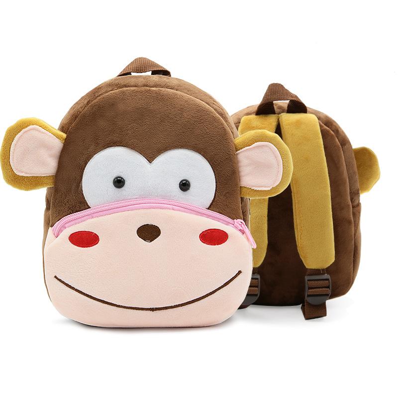 กระเป๋าลายลิงสีน้ำตาล แพ็ค 3 ชิ้น