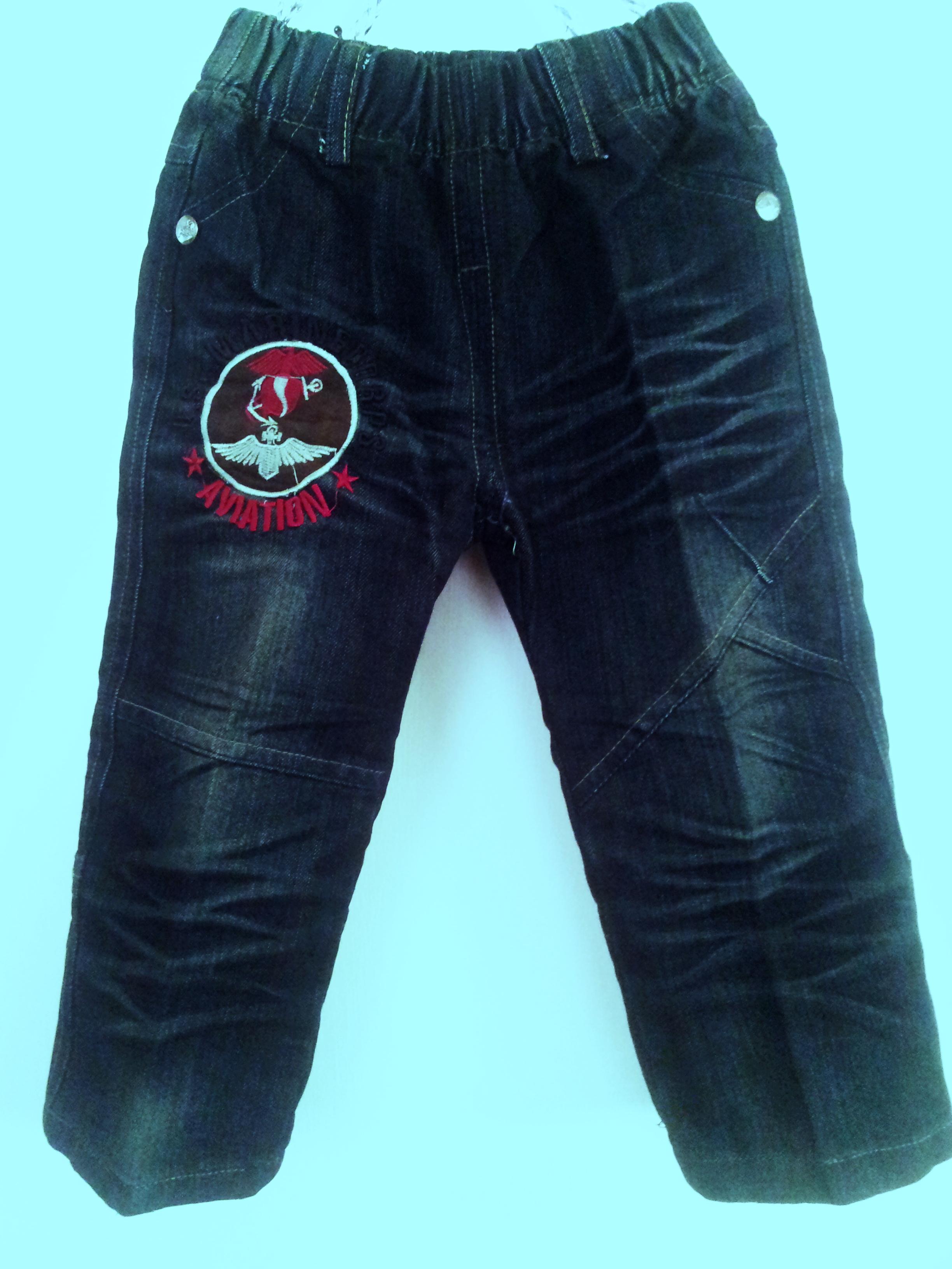 JD1211 กางเกงยีนส์เด็กชาย ดีไซส์ลายปักเท่ห์ทั้งด้านหน้า-หลัง เอวยางยืด Size 3-5 ขวบ ขายปลีกในราคาส่งให้เลยจ้า