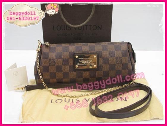 Louis Vuitton Damier Canvas Eva Clutch Bag **เกรดท๊อปมิลเลอร์** (Hi-End)