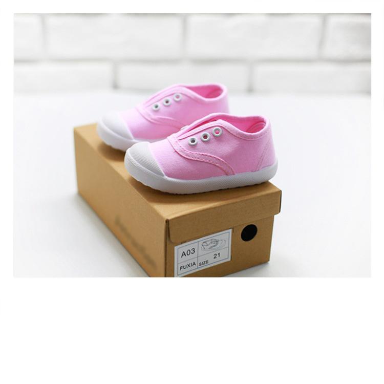 รองเท้าแคนวาสเด็ก สีชมพู [size 23-24-26-30]