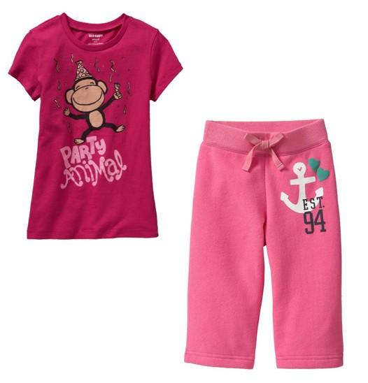 PJA014 เสื้อผ้าเด็ก ชุดลำลอง Party Animal แนวสปอร์ต baby Gap Made in Malasia งานส่งออก USA เหลือ Size 80