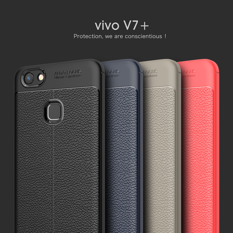 เคส VIVO V7+ (V7 Plus) พลาสติก TPU สีพื้นสวยงามมาก ราคาถูก