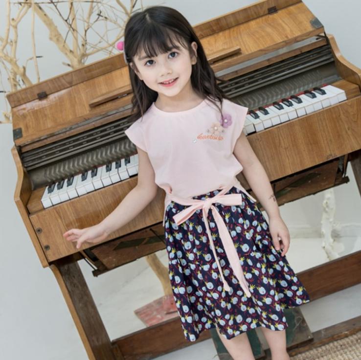 เสื้อ+กางเกง สีชมพู แพ็ค 5 ชุด ไซส์ 100-110-120-130-140 (เลือกไซส์ได้)