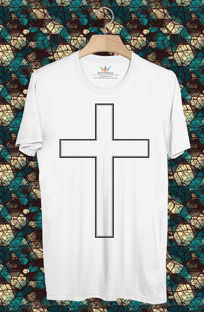 BP81 เสื้อยืด White Cross
