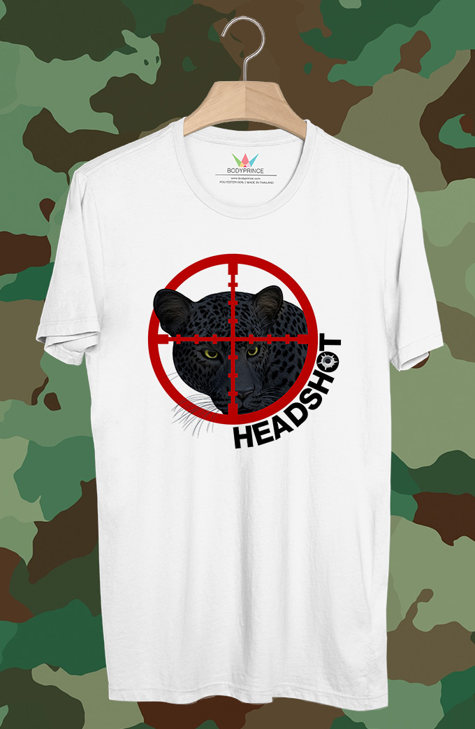 BP301 เสื้อยืด Head Shot Black Panther