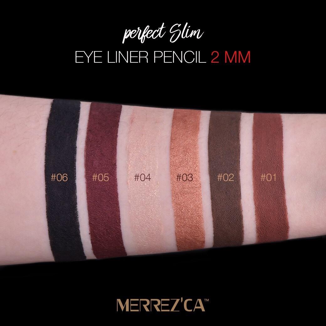 �ล�าร���หารู��า�สำหรั� merrezca perfect slim eye liner pencil