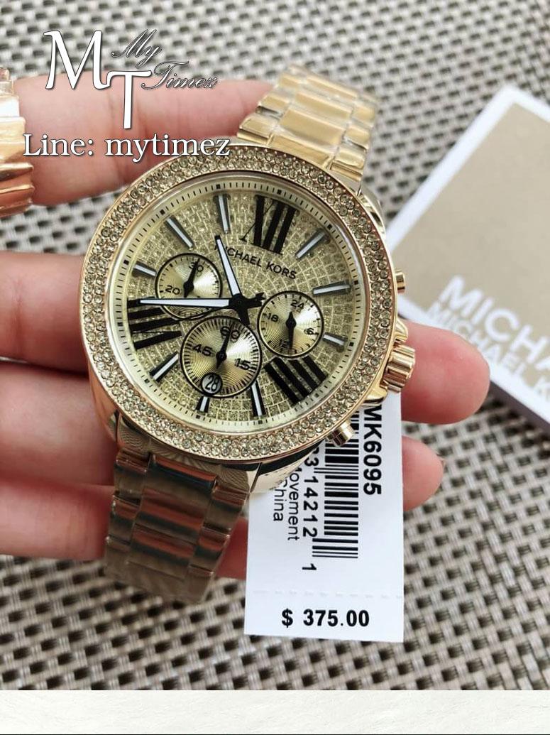 นาฬิกาข้อมือ MICHAEL KORS รุ่น Wren Chronograph Crystal Pave Dial Ladies Watch- MK6095