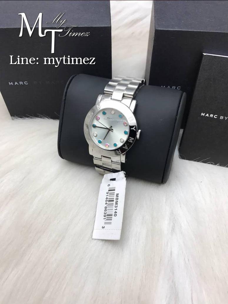 นาฬิกาข้อมือ MARC BY MARC JACOBS Amy Silver Tone Multi Glitz Watch MBM3140