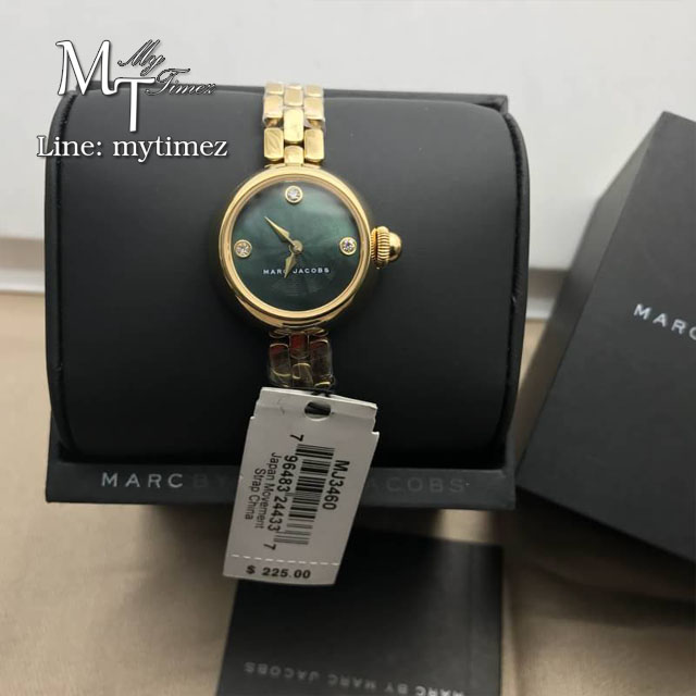 Marc by Marc Jacobs Courtney Black Dial Ladies Gold Tone Watch MJ3460