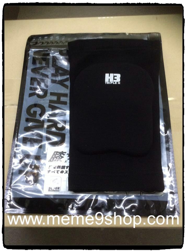 สนับเข่า H3 (สีดำ) แบบยาว ฟองน้ำ (2 ชิ้น)