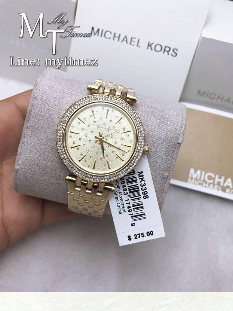 นาฬิกาข้อมือ MICHAEL KORS รุ่น Darci Gold Crystal-set Dial Gold-tone Ladies Watch MK3398