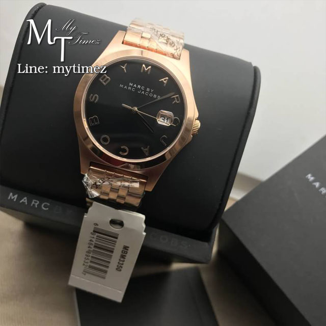 นาฬิกาข้อมือ MARC BY MARC JACOBS The Slim Brown Dial Rose Gold-tone Ladies Watch MBM3350