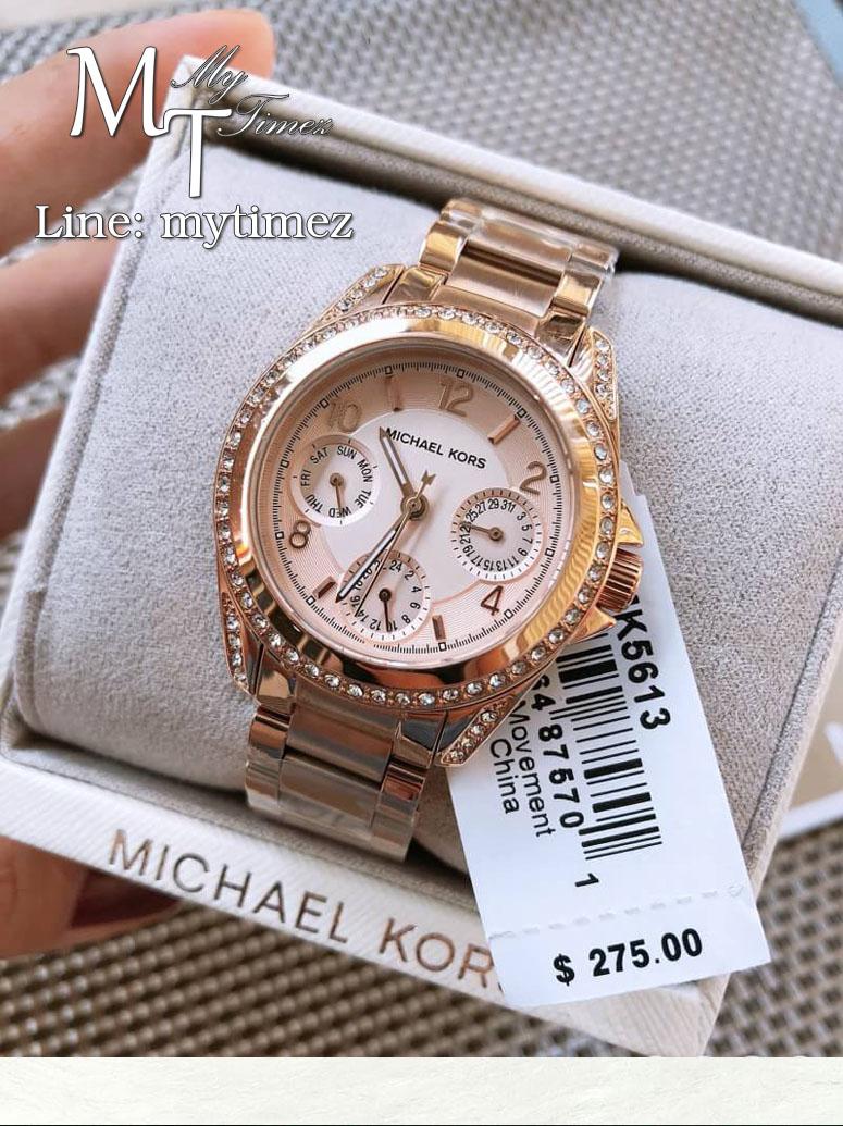 นาฬิกาข้อมือ MICHAEL KORS รุ่น Blair Multi-Function Rose Gold-tone Ladies Watch - MK5613