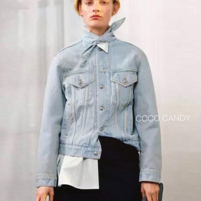 แจ็คเก็ตยีนส์ Balen Tie Collar Denim Jacket