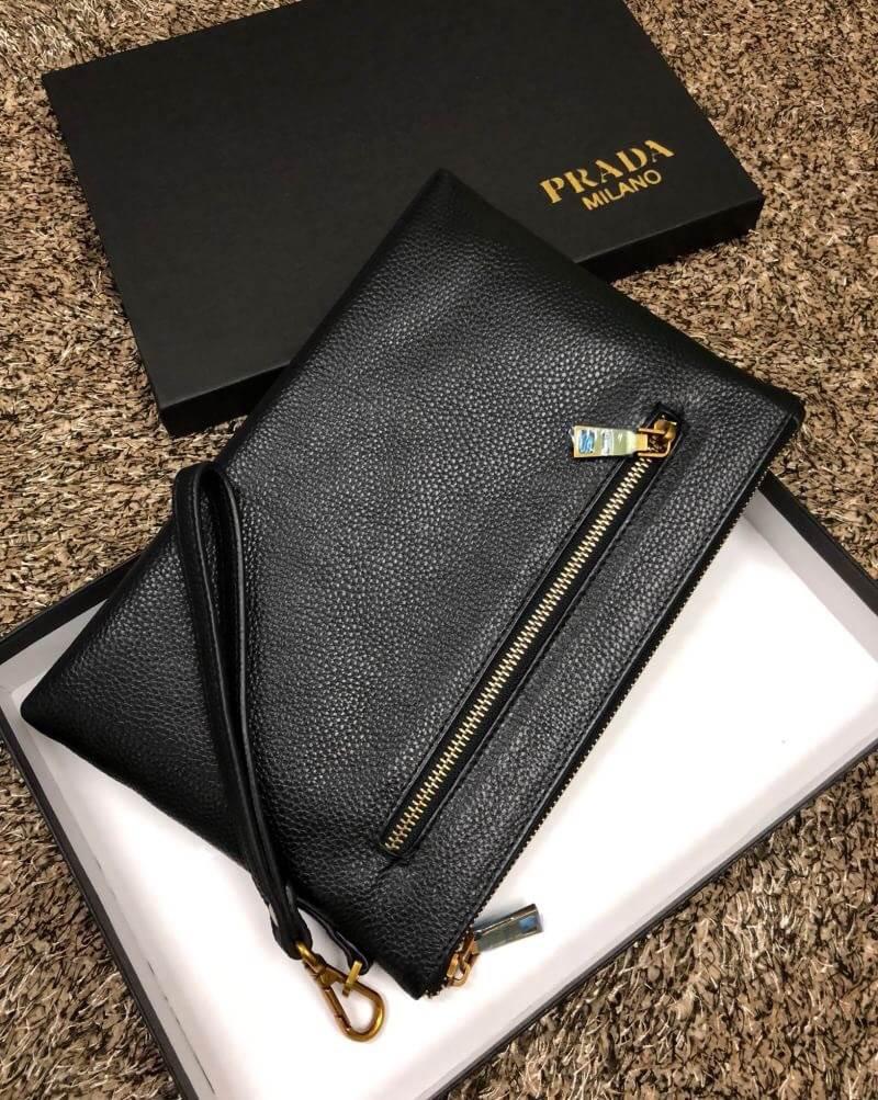6d9702fb7656a1 PRADA LEATHER CLUTCH BAG With Premium Gift HK - SMT Princess-Quinns ...