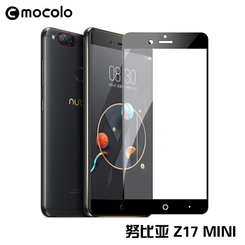 Z17 mini / Mocolo ฟิล์มกระจกกันกระเเทกเต็มจอ9Hขอบสี 2.5D รุ่น Nubia Z17 mini (ดำ,ขาว)