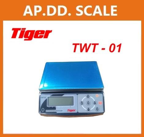 ตาชั่งดิจิตอล เครื่องชั่งดิจิตอลตั้งโต๊ะ เครื่องชั่งระบบอิเล็กทรอนิกส์ เครื่องชั่ง 30kg ละเอียด 1g ขนาด 220*310mm TIGER รุ่น TWT-01
