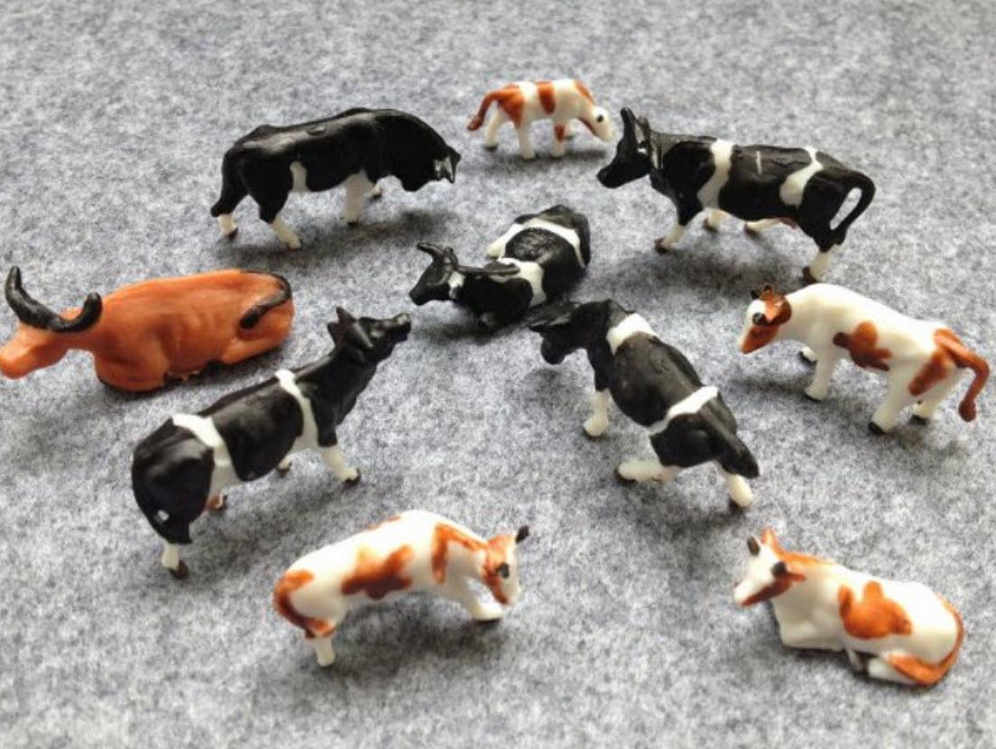 วัว สเกล 1:87 คละแบบ 15 ตัว