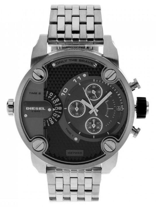 ac4663b21 นาฬิกา Diesel DZ7259 SBA Dual Time Chronograph Grey Dial Stainless ...