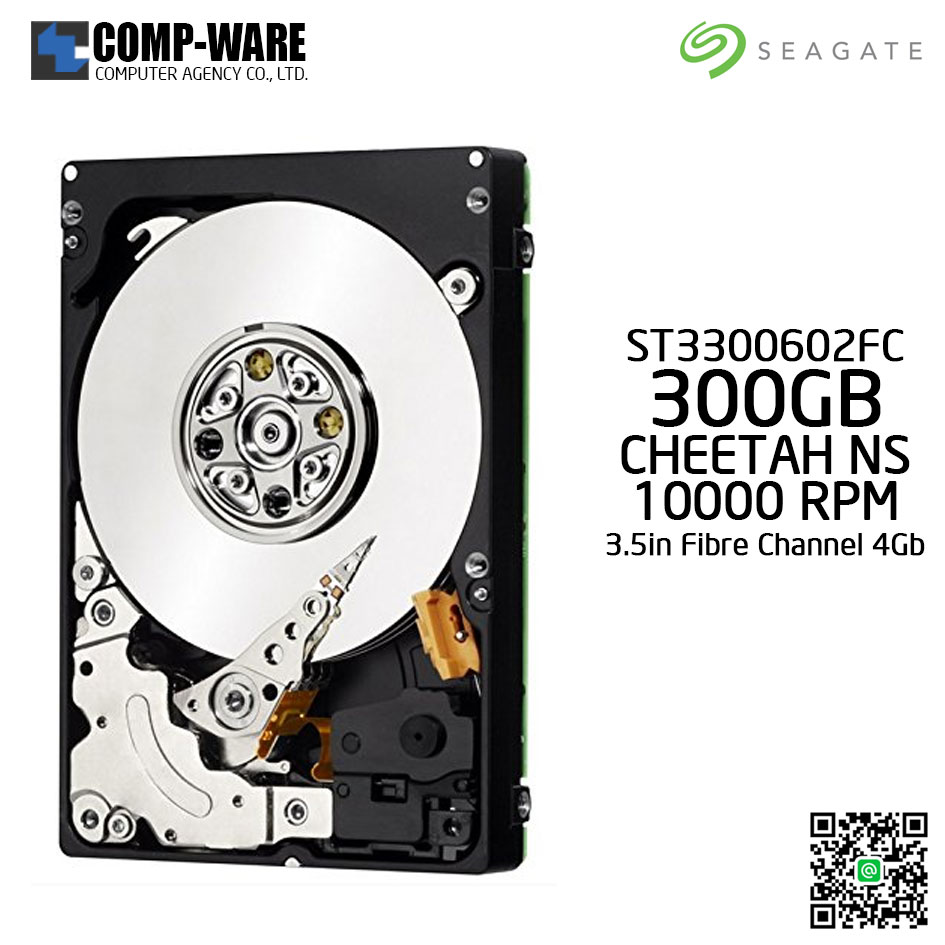 Seagate 300GB Cheetah NS.2 Fibre Channel 4Gb 10000RPM 16MB Cache 3.5inch Hard Drive ST3300602FC