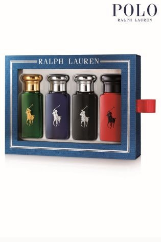 Ralph Lauren Polo 30ml Eau de Toilette Fragrance Gift Set Consists of : - RL Polo Red 30ml Edt - RL Polo Black 30ml Edt - RL Polo Blue 30ml Edt - RL Polo (Green) 30ml Edt - POLO RED, the new woody-spicy fragrance for a daring and sensual man ความหอมที่รัง
