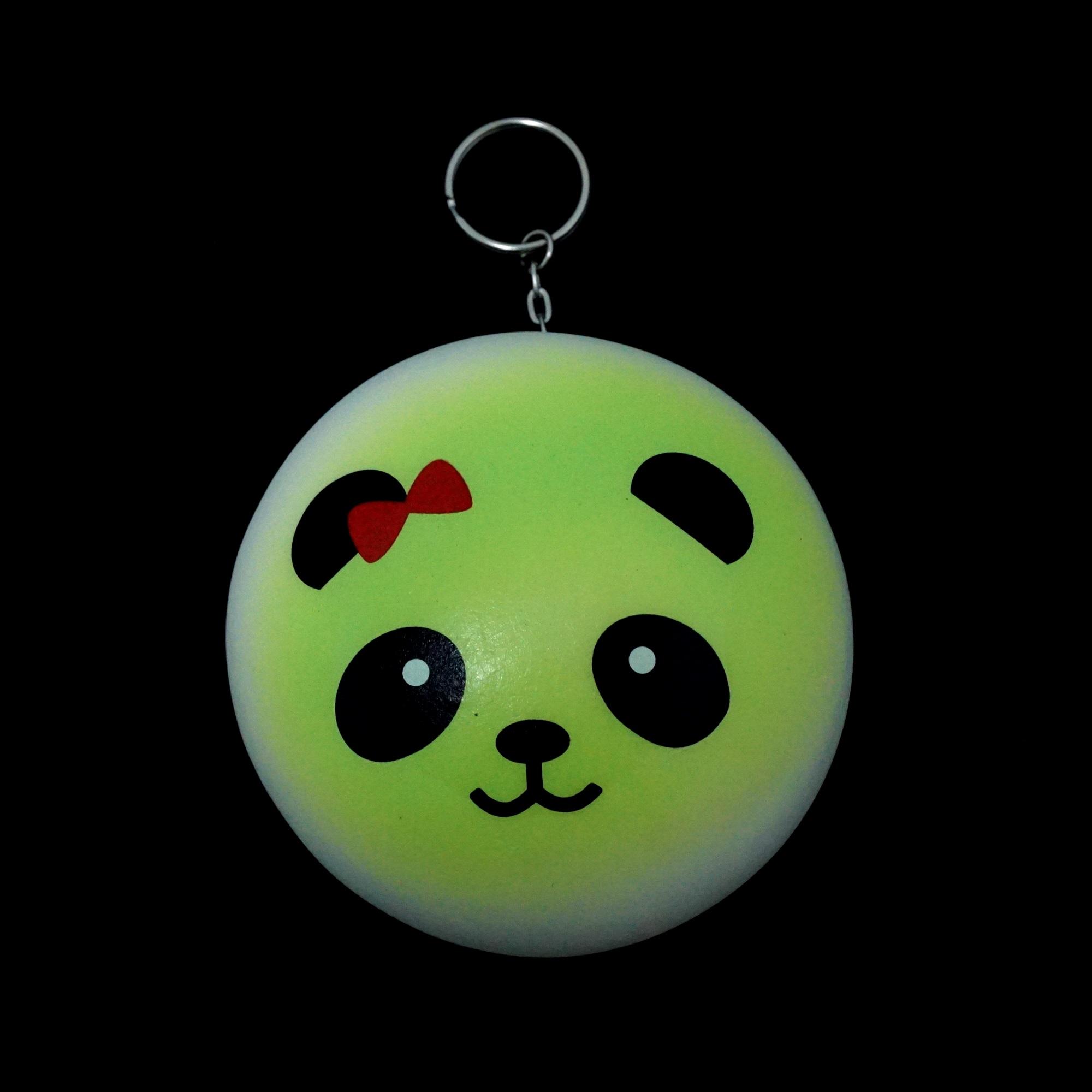 พวงกุญแจ สกุชชี่ซาลาเปาแพนด้า (สีเขียว) 12อัน