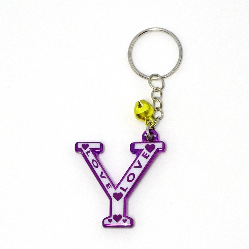 พวงกุญแจตัวอักษร Y 12อัน