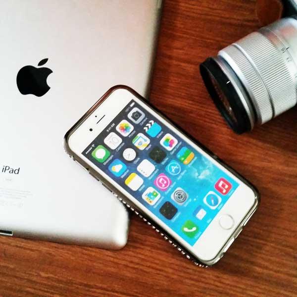 เคสไอโฟน 6/6s ประกบขอบข้าง สีดำ