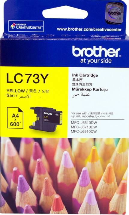 BROTHER INK CARTRIDGE LC-73Y สีเหลือง