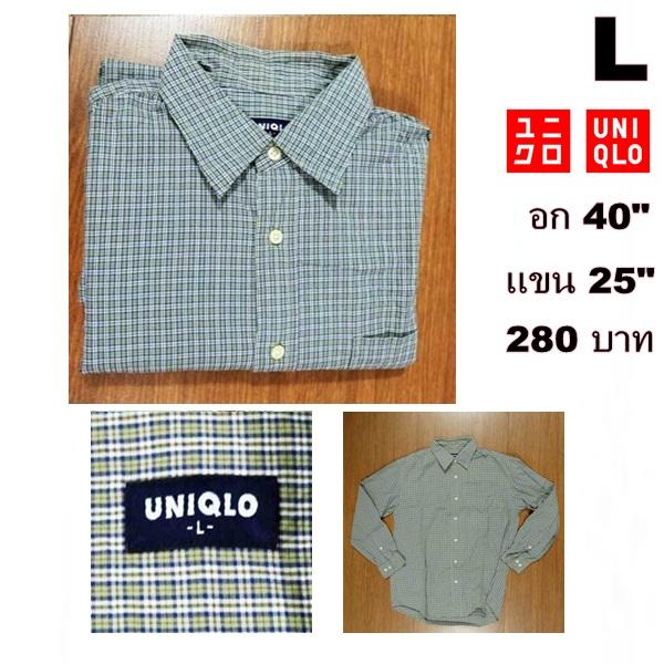 เสื้อเชิ้ตแขนยาว เสื้อเชิ้ต UNIQLO Size L
