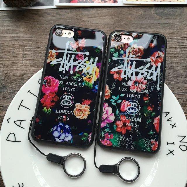(674-015)เคสมือถือไอโฟน case iphone 5/5s/SE เคสนิ่มลายดอกไม้พื้นหลังแววๆ