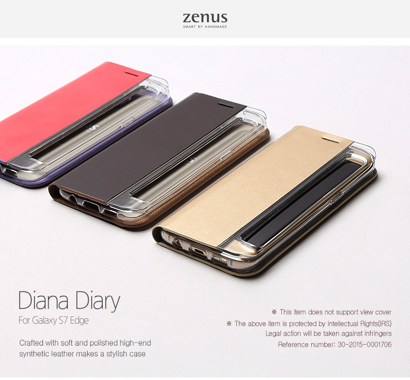 Zenus : Diana Diary / Flip Cover Carrying Case For Galaxy S7 Edge