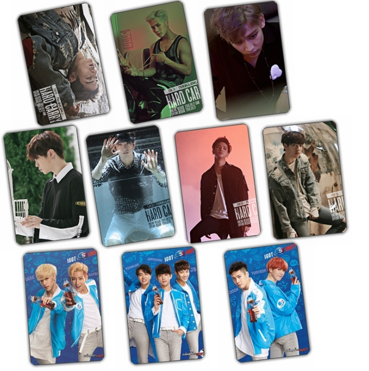 Sticker card set GOT7 FLIGHT LOG : TURBULENCE (A) 10pc