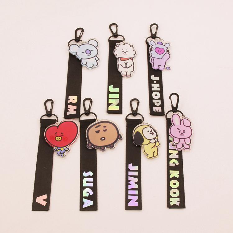 Nametag+พวงกุญแจ BTS BT21 characters -ระบุสมาชิก-