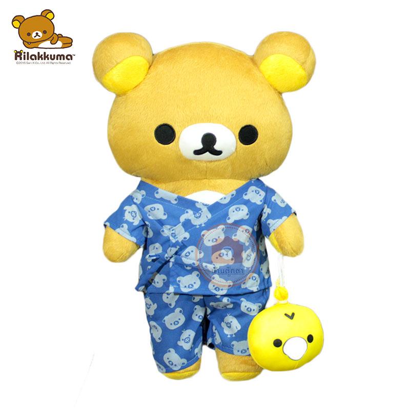 ตุ๊กตา ริลัคคุมะ ชุดกิโมโนสีน้ำเงิน 17 นิ้ว