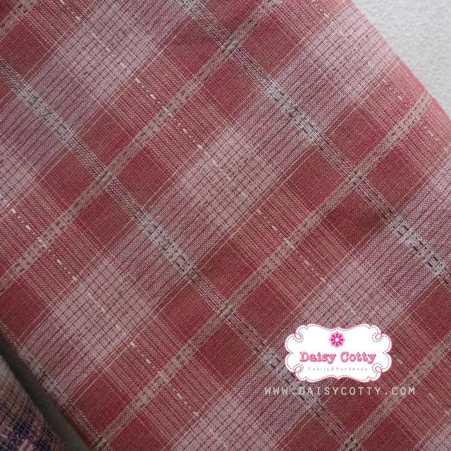 ผ้าทอญี่ปุ่น 1/4ม.(50x55ซม.) โทนสีแดงกล่ำ