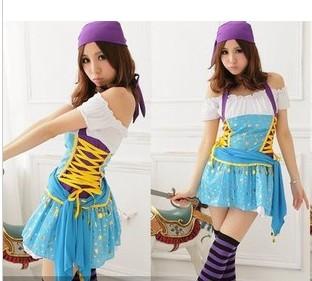 co010 ชุดแฟนซี ชุดสาวยิปซี ยิปซีฮิบปี้แสนสวย สีสันสดใสค่ะ