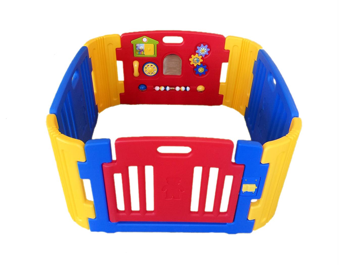 คอกกั้นเด็ก Haenim new สีแดงสดใส รุ่น Playgame ไซท์S