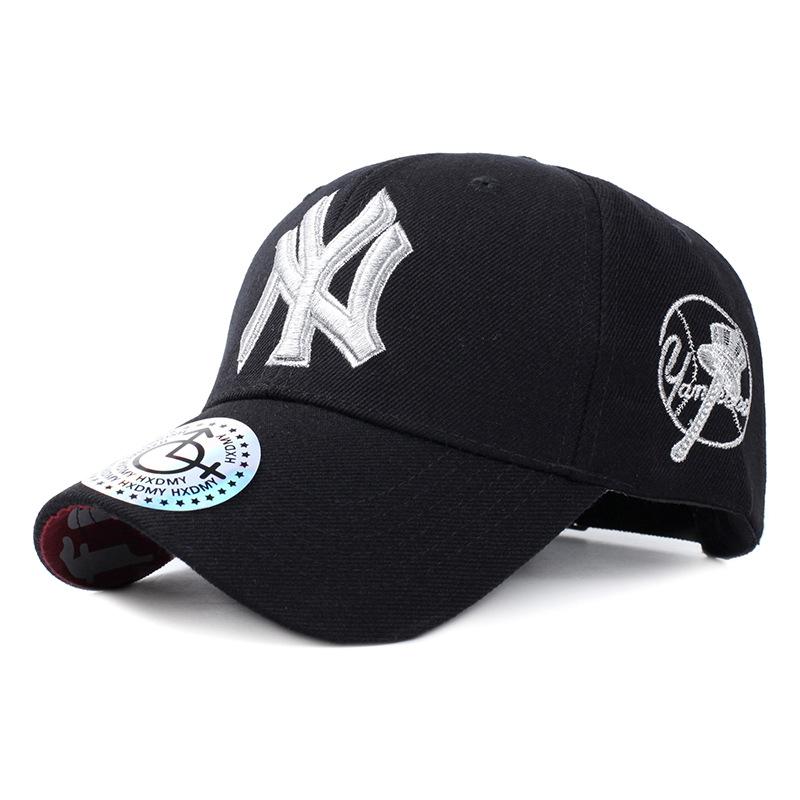 *Pre Order*NY หมวกเบสบอล,หมวกแฟชั่นผ้าใบปักลาย ขนาดปรับได้ 56-60 cm. ( 3 สี)
