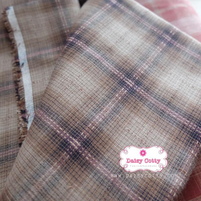 ผ้าทอญี่ปุ่น 1/4ม.(50x55ซม.) โทนสีน้ำตาลเข้ม