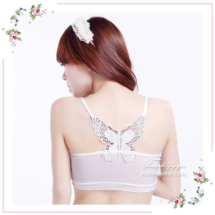 เสื้อซับในผ้ายืด ลายผีเสื้อด้านหลัง สวยเดี่ยว สวย หวาน เซ็กซี่ จะใส่เป็นซับใน หรือ ใส่แบบซีทรู ก็ดูสวยครับ ขนาด FREE SIZE สำหรับผู้หญิงรอบอกไม่เกิน 33 นิ้ว มี 2 สี ขาว และ ดำ