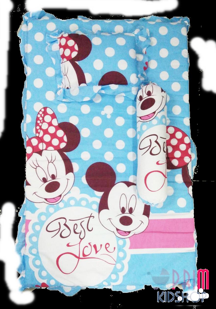 (ใหญ่กว่า) ที่นอนเด็กอ่อนลาย Micky & Minnie
